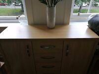 Side unit with 2cupboards and 3drawers