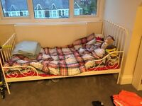 IKEA metal frame extendable bed