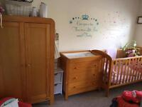 Mamas and Papas Nursery Furniture (Cot bed, wardrobe and chest of drawers)