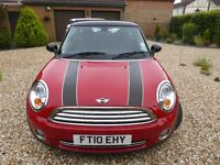 Mini 1.6 Cooper, 2010 (June) 122 hp, 3dr Chilli Red, Manual petrol, many extras.