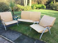 Modern contemporary patio /conservatory 3 piece sofa and 2 reclining chairs