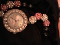 watch and bracelet popcorn style