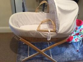 Baby Moses basket plus stand