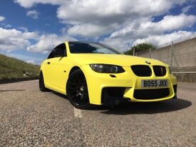 BMW 320d M sport, convertible wrapped in matte yellow