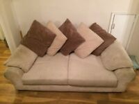 Two stylish, comfortable, beige sofas - only £125 each or both for £200!
