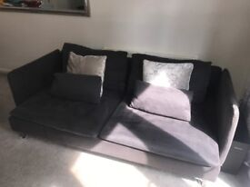 Ikea soderhamn grey/black sofa and chair 4seater brill condition like new