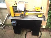 EMCO COMPACT 8 LATHE COMPLETE WITH MANUFACTURERS CABINET MADE IN AUSTRIA