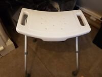 Folding shower stool, excellent condition £12