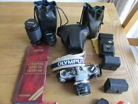 Olympus OM10 Camera, with 2 Extra Lenses, Filters and Accessories