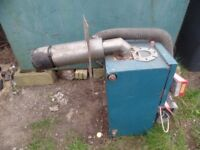 Oil fired water boiler
