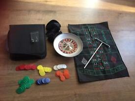 Mini travel roulette set