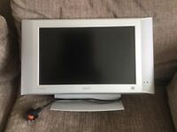 "Phillips flat screen 17"" TV Silver"