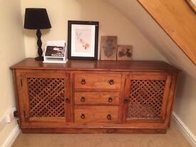 John Lewis Maharani Furniture Set, Table & Chairs, Sideboard, Bookcase, Bench