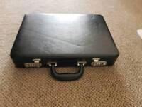 Slim leather briefcase