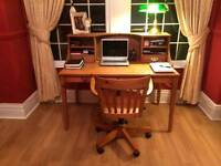 PINE IKEA desk with Captains Chair