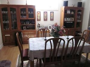 Dining Room Set 10Pc & Matching Living 6Pc. Living Room Set