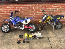 2 Mini Motos with spares