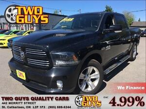 2015 Ram 1500 Sport CREW 4WD LEATHER NAVIGATION MOONROOF BACK UP