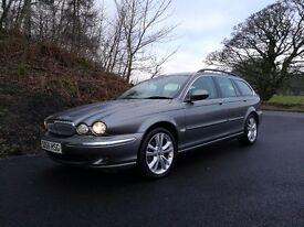 jaguar x-type estate 2.2 diesel stunning fully loaded!!