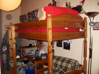 100% Solid Wood Pine Natural single Bunk bed / Loft Bed / Cabin Bed