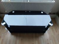 Black glass TV stand £20 couple of small scratches
