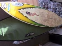 "MMY Surfboard - 6""1, Good Condition w/ bag - £180"