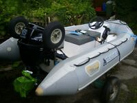 Rib boat Gladiator 330 with 15HP 4 Stroke Outboard Engine and Trailer