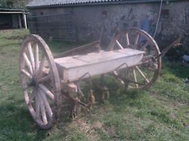 Vintage Horse Drawn Seed Drill - Barn Find - For Restoration