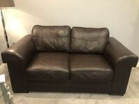 2 X 2 Seater Brown Couch