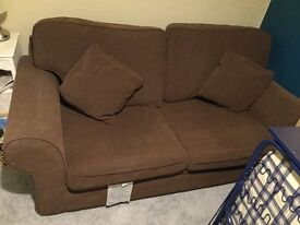 SOFA BED - Brown fabric. Seats & sleeps 2. Not much use, sturdy mechanism. Comfortable & clean.