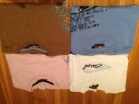 Set of Four Men's O'neill T-Shirts (two are L (slightly fitted) and two are M)