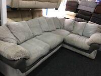 Ex Display DFS Cord Grey Corner Sofa