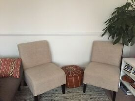 Designer Slip Chairs - Perfect Condition