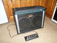 Peavey Stereo Chorus 212 vintage USA solid state guitar amplifier with footswitch, very loud