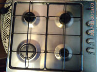 Integrated 60cm Gas Hob, Stainless Steel