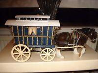 romany wagon and horse
