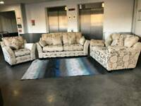X DISPLAY FABRIC SOFA 3 SEATER 2 AND ARM CHAIR FAST DELIVERY!!!
