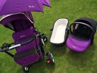 Silver Cross Pioneer pram, pushchair and car seat