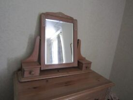 Marks and Spencer limed pine mirror