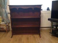 Victorian/Edwardian plate/book/ornament shelf unit.