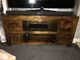 Dakota mango tv cabinet unit