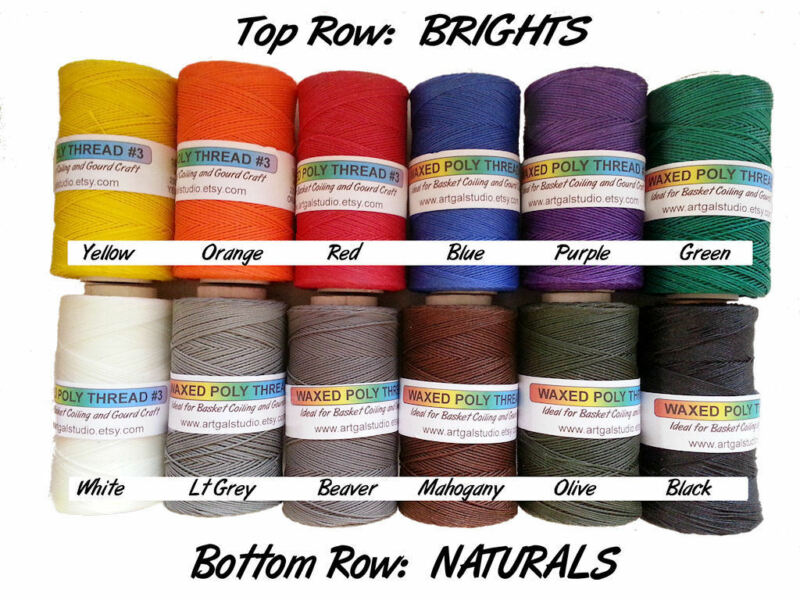 Waxed Thread 4 oz Spool Basketry Gourd Art Beading Jewelry Leather Craft & more
