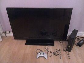 Xbox 360s slim + UMC 39 inch LCD tv