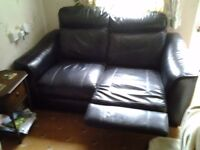 leather sofa recliner manual
