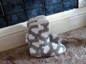 grey boot slippers