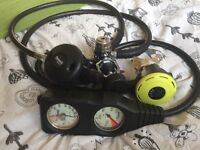 Scuba diving regulators - complete sets (1st and 2nd stage, console), 3 available