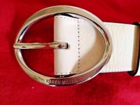 Karen Millen Belt - Ivory (Small - 8/10)