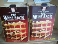 2 PINE WINE RACKS