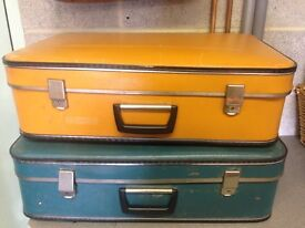 Pair of vintage suitcases Cheney