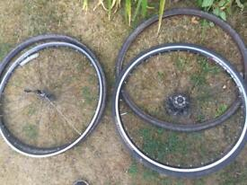 3 tyres and two wheels free